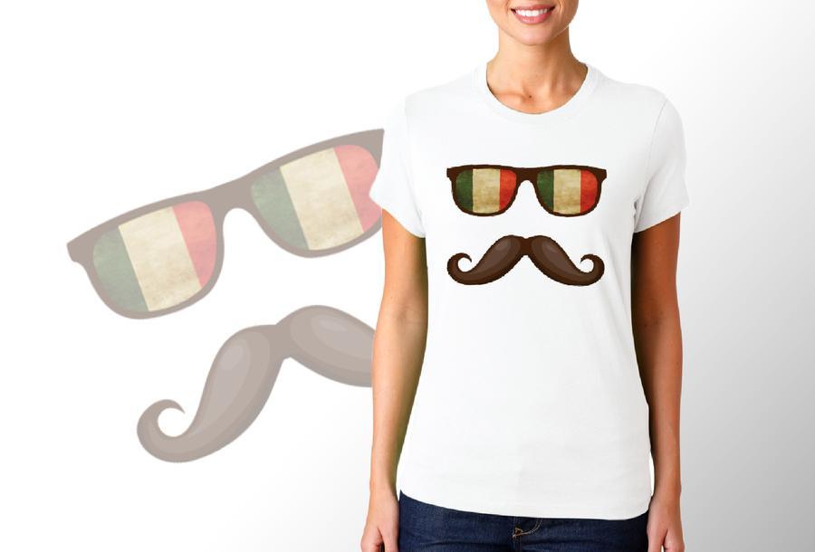 T-shirt Occhiali Italia/Donna