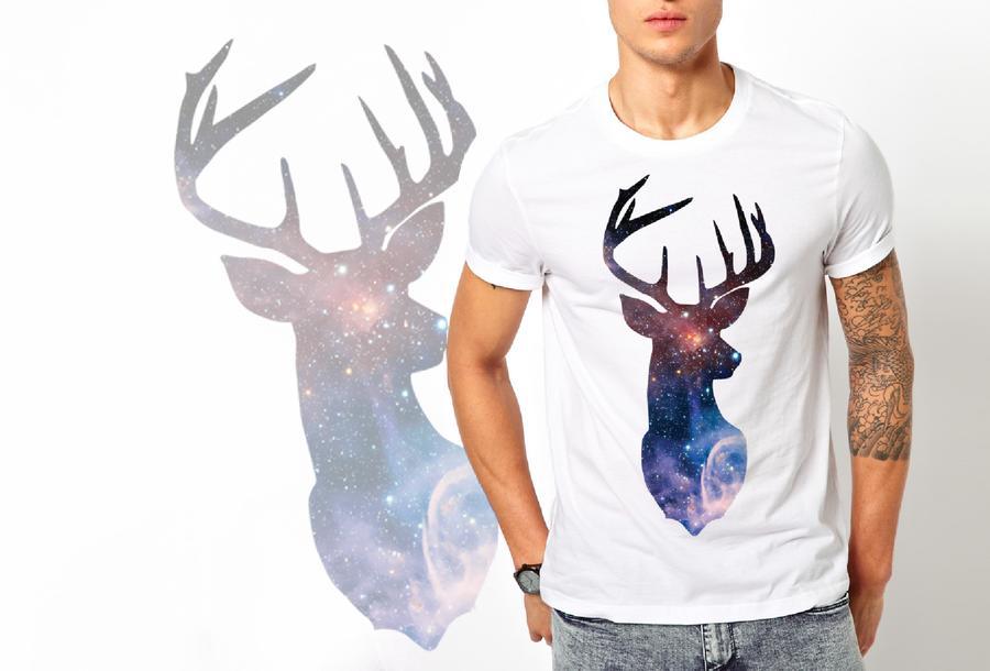T-shirt Cervo/Uomo