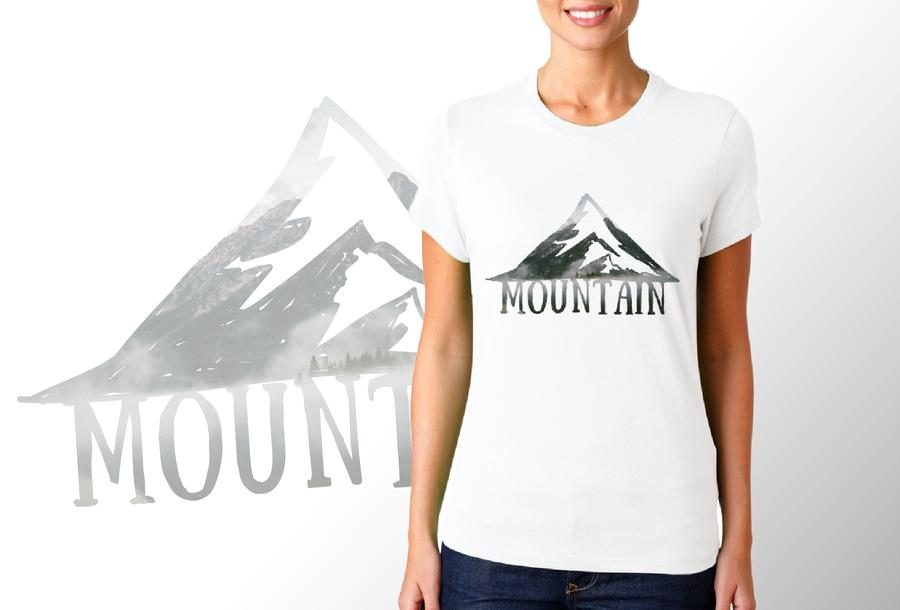 T-shirt Mountain/Donna