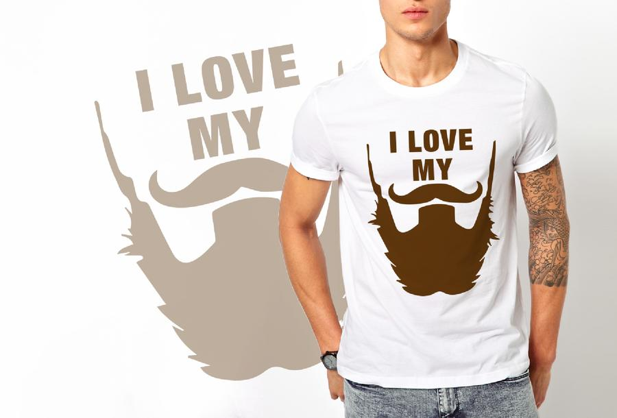 T-shirt I love my beard/Uomo