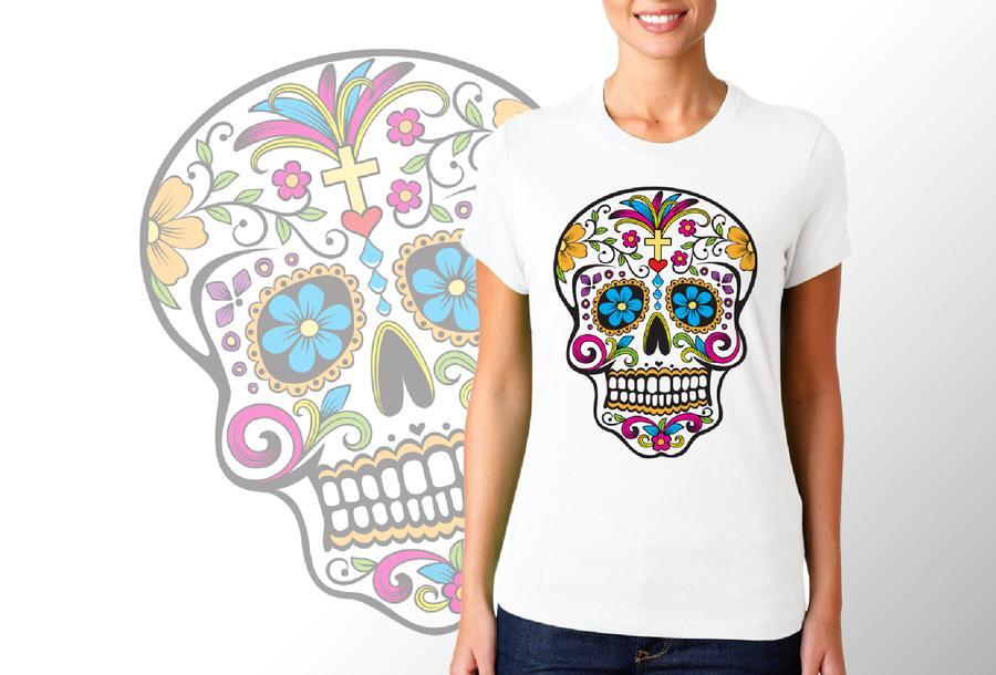 T-shirt Sugar Skull/Donna