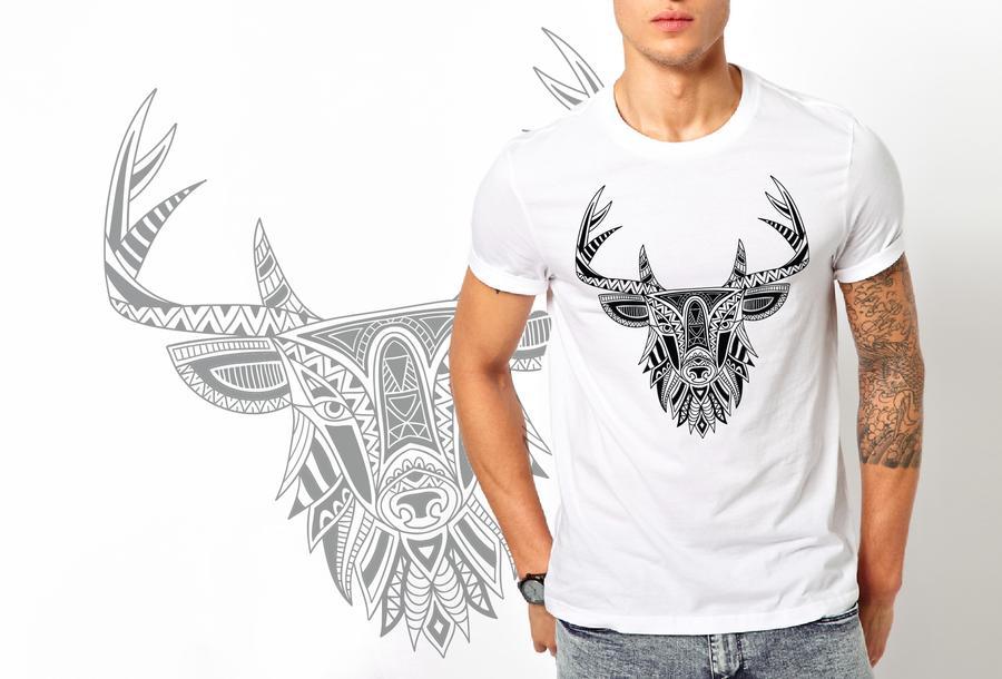 T-shirt Cervo etnico/Uomo