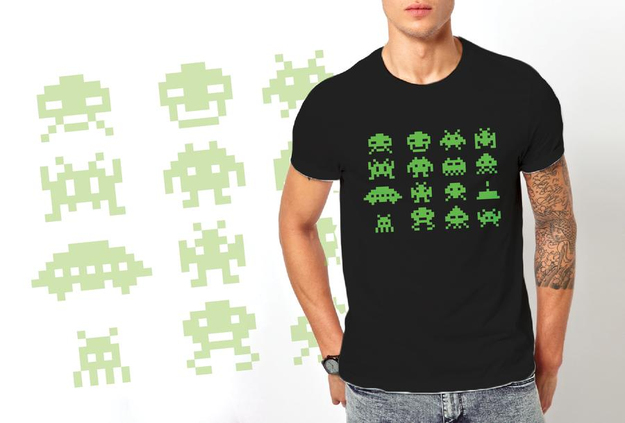T-shirt Space Invaders/Uomo