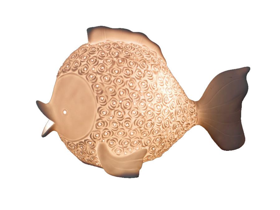 Lampada a Forma di Pesce in Porcellana di Artesania Esteban - Mondo Nautica 24