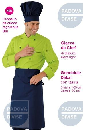 COMPLETO CHEF LIGHT VERDE MELA E BLU POLCOT