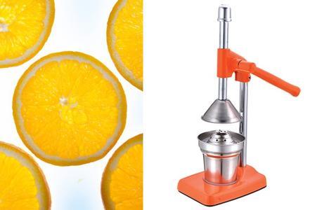 Spremiagrumi a leva in acciaio inox spremi arance limoni colore arancio