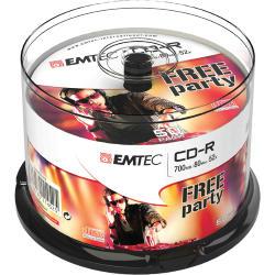 CD-R EMTEC 80MIN/700MB 52x SPINDLE (50pz)