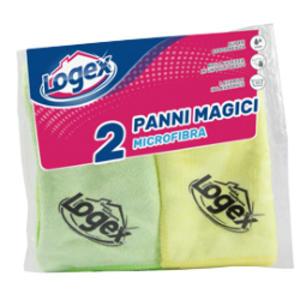 Conf. 2 PANNI MAGICO IN MICROFIBRA 38x38cm LOGEX