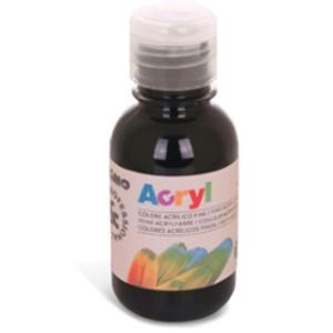 Colore acrilico fine Acryl 125ml nero PRIMO