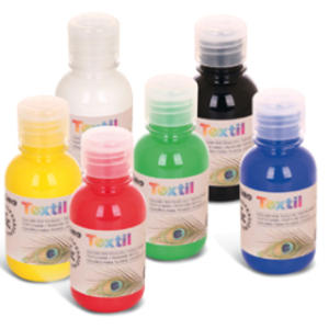 BOX 6 COLORI ASSORTITI 125ml PER TESSUTI PRIMO