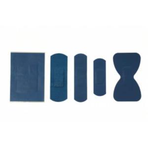 Scatola 100 CEROTTI 2x7cm BLU DETECTABLE