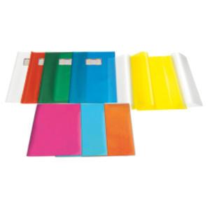 COPRIMAXI IN PVC GOFFRATO TRASP. 21X30CM ROSSO C/ALETTE EMY SILK