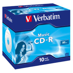 SCATOLA 10 CD-R MUSIC LIVE IT 80MIN. SERIGRAFATO COLORATO