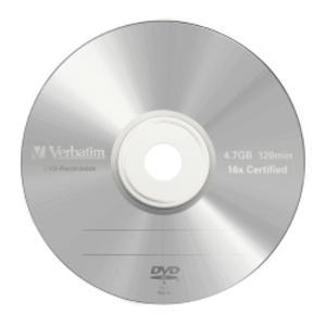 SCATOLA 5 DVD-R JEWEL CASE 16X 4.7GB 120MIN. SERIGRAFATO