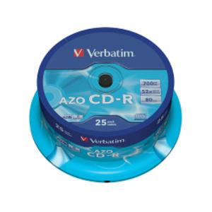 SCATOLA 25 CD-R DATALIFEPLUS SPINDLE 1X-52X 700MB SERIGRAFATO
