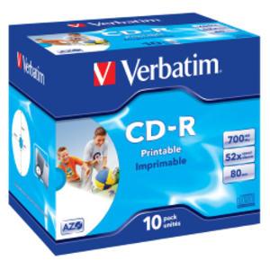 SCATOLA 10 CD-R DATALIFEPLUS JEWEL CASE 1X-52X 700MB STAMPABILE INKJET