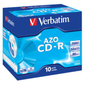 SCATOLA 10 CD-R DATALIFEPLUS JEWEL CASE 1X-52X 700MB SERIGRAFATA CRYSTAL