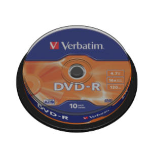 SCATOLA 10 DVD-R SPINDLE 16X 4.7GB 120MIN.SERIGRAFATO