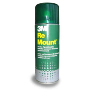 ADESIVO SPRAY 3M RE-MOUNT RIMOVIBILE - TRASPARENTE 400ML