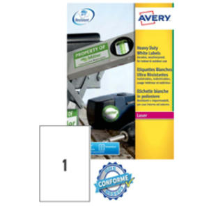 Poliestere adesivo L4775 bianco 20fg A4 210x297mm (1et/fg) laser Avery