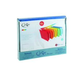 BOX 10 CARTELLE SOSPESE CASSETTO 33/V COLORI ASS. JOKER BERTESI