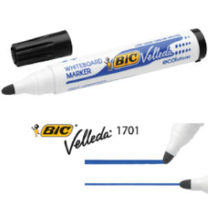 MARCATORE P.TONDA 1.5MM NERO Whiteboard VELLEDA® 1701 Recycled BIC®