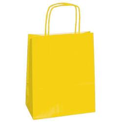 25 SHOPPERS CARTA KRAFT 45X15X50CM TWISTED giallo