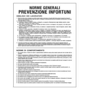 CARTELLO POLIONDA 50x67cm 'Norme generali prevenzione infortuni'
