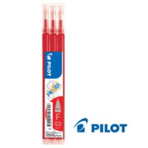 SET 3 REFILL SFERA FRIXIONball CLICKER 0.5mm ROSSO PILOT