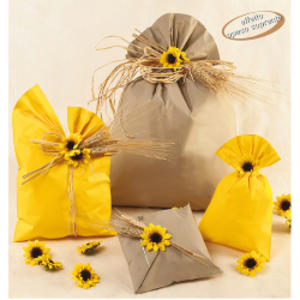 100 BUSTE REGALO IN PPL PERLA MAT 20x35cm assortimento 5 colori