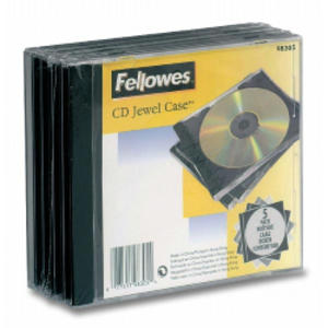 PACK 5 CUSTODIA CD SINGOLA JEWEL CASE BASE NERA