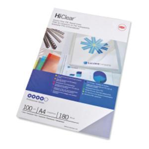 100 COPERTINE HI-CLEAR 180MIC A4 TRASPARENTE NEUTRO