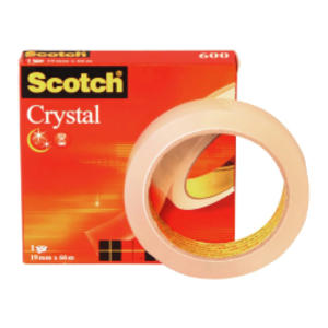 NASTRO ADESIVO SCOTCH CRYSTAL CLEAR 600 66MTX19MM