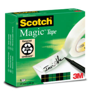 NASTRO ADESIVO SCOTCH MAGIC 810-2566 25mmX66mt INVISIBILE PERMANENTE