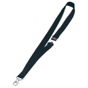 10 CORDONCINI PORTABADGE 20mm NERO DURABLE