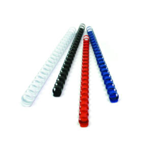 50 DORSI PLASTICI 21 ANELLI 38MM NERO TiTanium