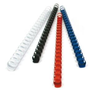 50 DORSI PLASTICI 21 ANELLI 50MM BLU TiTanium