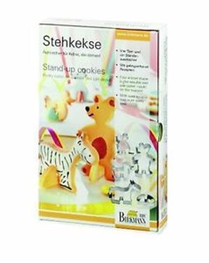 Set 4 stampi biscottini animali con sostegno