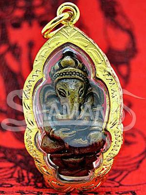 Amuleto Thailandese Piccolo Ganesh con Rito per Attirare Soldi