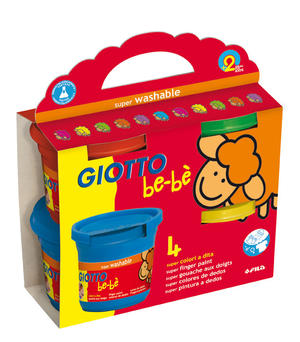 Giotto bebè Super Colori a Dita colori a dita 4 x150ml