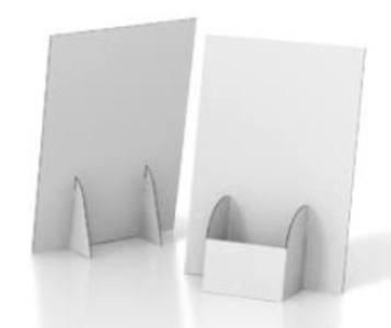 Desk porta depliant A4 verticale tasca da 15,5 cm.