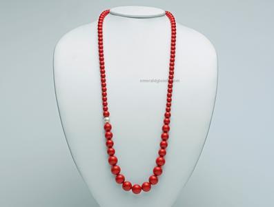 PCL4656 Collana Miluna con Corallo Rosso e Perla -