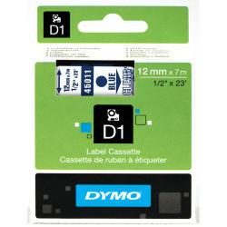 NASTRO DYMO TIPO D1 (12MMX7M) BLU/TRASPARENTE 450110