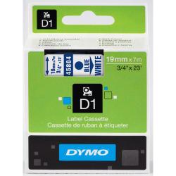 NASTRO DYMO TIPO D1 (19MMX7MT) BLU/BIANCO 458040
