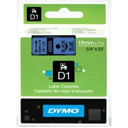 NASTRO DYMO TIPO D1 (19MMX7MT) NERO/BLU 458060