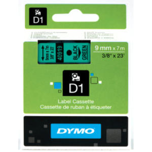 NASTRO DYMO TIPO D1 (19MMX7MT) NERO/VERDE 458090