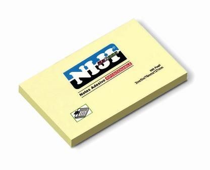 BLOCCO TIPO POST-IT 655 DA 100FOGLI MM. 127X76 GIALLO