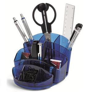 DESK SET ABS BLU CON 8 ACCESSORI (F.TO 12,8x12,8x13)