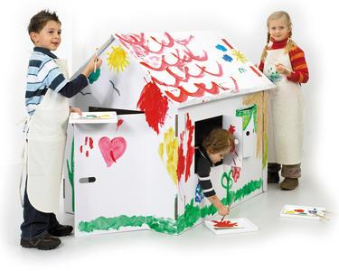 Casa gioco bianca XXL da dipingere