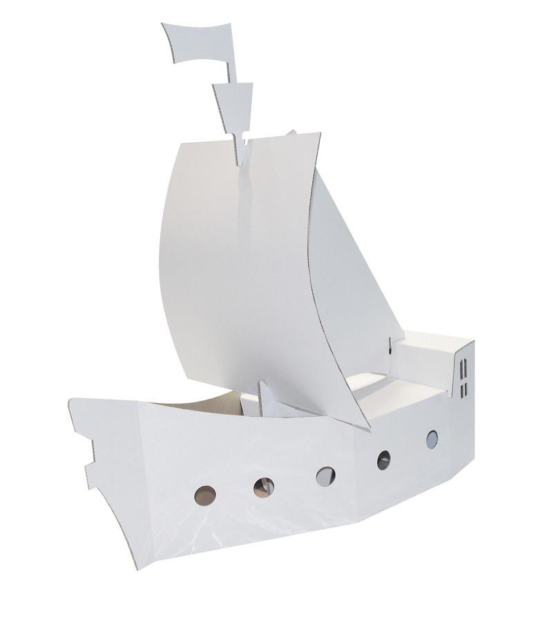 Nave dei pirati bianca da dipingere